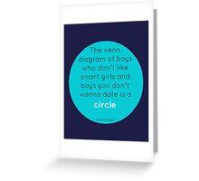 The Venn Diagram of Boys... Greeting Card