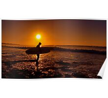 """Dawn Surfer"" Poster"
