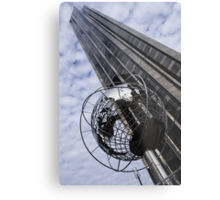 Silver and Blue Planet Earth Metal Print