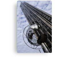 Silver and Blue Planet Earth Canvas Print