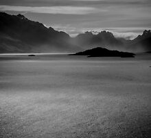 Lake Wakatipu B&W by Stephen Humpleby