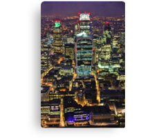 City of London Skyline at Night Canvas Print