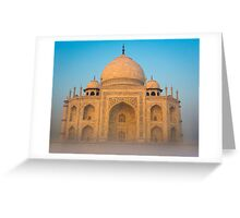 Glowing Taj Mahal Greeting Card