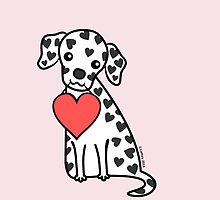 Dalmation Puppy Valentine by zoel