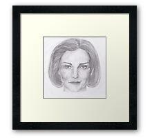 Kathryn Janeway / Kate Mulgrew pencil portrait Framed Print