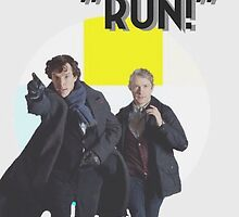 Run! BBC Sherlock Phone Case by pxnds
