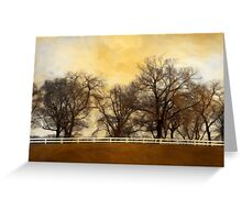 Willows at the Horse Farm Greeting Card
