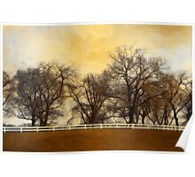 Willows at the Horse Farm Poster