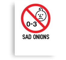 Ashens - 0-3 Sad Onions Canvas Print