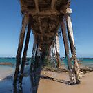 Port Naorlunga Jetty by Blue Gum Pictures