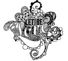 LET THERE BE LOVE Zentangle - White by Tangldltd