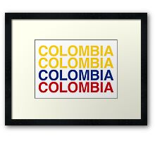 COLOMBIA Framed Print