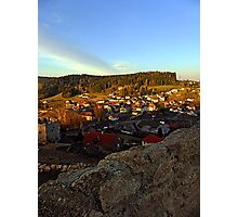 Village skyline below the castle at sundown | landscape photography Photographic Print