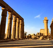 Temple of Luxor, Egypt by Ludwig Wagner