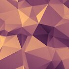 Purple And Beige Polygon by NeoIno