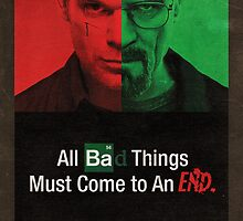 Breaking Bad and Dexter Finale Poster by Dawar Rashid