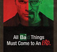 Breaking Bad and Dexter Finale Poster by Dawar Rashid