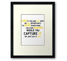 EMINEM MOTIVATIONNAL SHIRT BLACK&YELLOW Framed Print