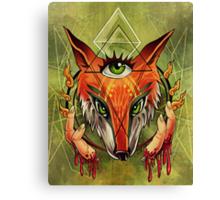 Fox Fingers Canvas Print