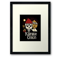the karate onion Framed Print