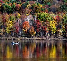 Vanishing Autumn Reflection Landscape by Christina Rollo