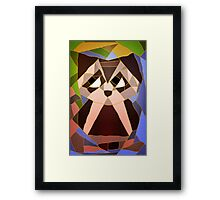 Stained Glass Owl Framed Print