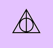 Deathly Hallows Purple, iPhone by AlanaDZ
