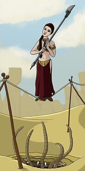 Princess Leia on the Wire by mikaelaK