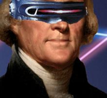 Cyclops + Thomas Jefferson Mash Up Sticker
