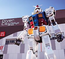 Gundam giant statue in Diver City Tokyo Japan art photo print by ArtNudePhotos