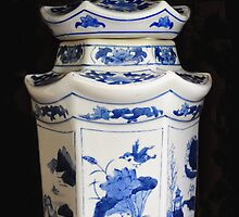 the blue ginger jar by Leone