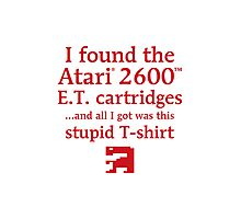 I found the ET cartridges (Red) Photographic Print