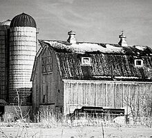 Barn In Winter by Roger Passman