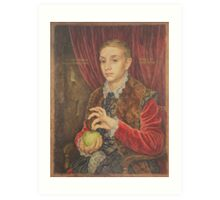 The Grand Budapest presents Boy With Apple Art Print