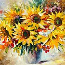SUNFLOWERS by Leonid  Afremov