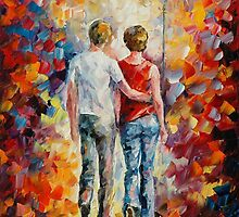 LOVE WALKED IN by Leonid  Afremov