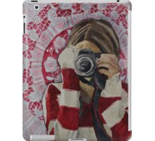 Selfie, watercolor and mixed media on paper iPad Case/Skin