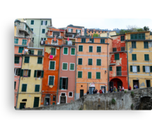 All About Italy. Piece 6 - Riomaggiore Houses Canvas Print