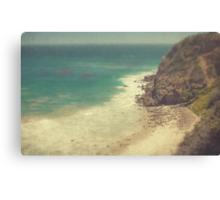 Vintage Malibu Beach Print Canvas Print
