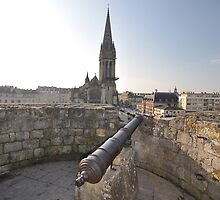 Cannon & Cathedral, Caen, France, Europe 2012 by muz2142