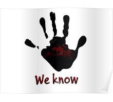 Skyrim's Dark Brotherhood: We Know Poster