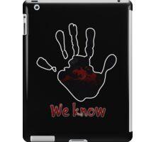 Skyrim's Dark Brotherhood: We Know iPad Case/Skin