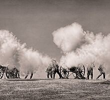 Firing of the Canons - Civil War Reenactment by CarolM