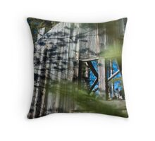 Made of wood in the woods Throw Pillow