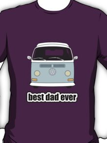 Best Dad Ever Pale Blue Early Bay T-Shirt
