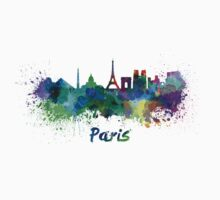 Paris skyline in watercolor by paulrommer