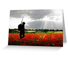 Lost Soldier Greeting Card