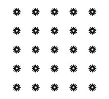 Simple Black & White Daisy Pattern  by Perrin Le Feuvre