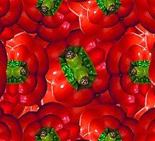Vegetables pattern composition by DFLC Prints