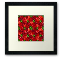 Vegetables pattern composition Framed Print